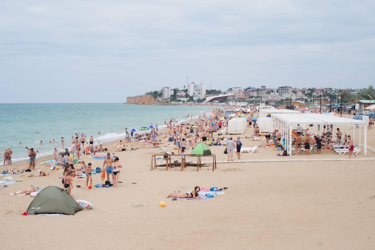 Пляж Орловка Крым Качинская гостиница  Севастополь